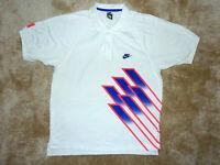 NIKE Tennis Challenge Court JOHN McEnroe Andre Agassi Polo US: L 1991 vintage