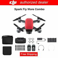 DJI SPARK FLY MORE COMBO,Lava Red,12MP Camera,1080p Video,Active Track,QuickShot