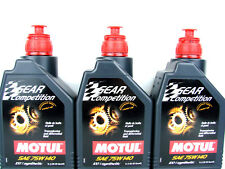 3x 1 L Motul Gear 75W140 concurrence huile voiture de TRANSMISSION RACING