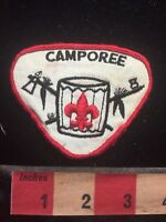Vtg Boy Scout Drum Patch - Camporee S69S