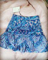 SPELL Designs City Lights purple Mini Skirt XS BNWT