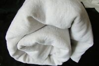 Antique French Slubby Chanvre 100% Linen Sheet Fabric Centre Seam c1800s