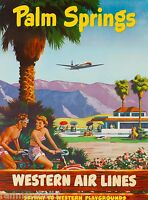 Palm Springs California United States Western Travel Advertisement Poster