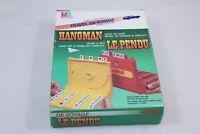 Vintage Milton Bradley Travel Hangman Game w/ Box + Manual