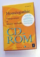 Homéopathie thérapeutique et matière médicale CD-ROM PC santé naturel Boiron