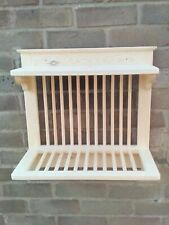 WOODEN HANDMADE PLATE RACK WALL MOUNTED 50 cm wide P&P included
