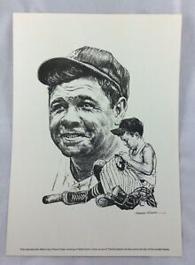 1960's-1970's Babe Ruth, New York Yankees Equitable Life Portrait
