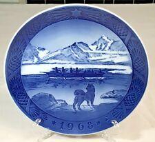 1968 Royal Copenhagen Collector Plate Kai Lange The Last Umiak Cobalt Blue