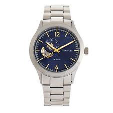 Heritor Automatic Antoine Semi-Skeleton Bracelet Watch - Silver/Blue