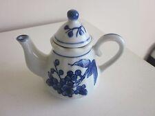 "Small Nantucket Tea Pot blue and white 5.50""H"