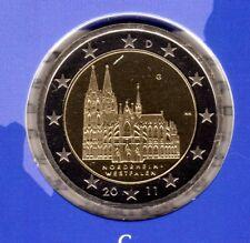 Deutschland  2 Euromünze Kölner Dom-G -2011 In PP Bankfrisch