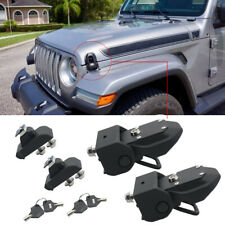 For Jeep JL Hood Latch Locking Hood Catch with Key for 2018 2019 Wrangler JL JLU
