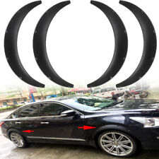 4x Universal Car Black Body Fender Flares Flexible Durable Polyurethane Size L