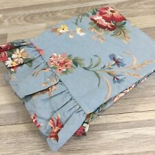 Ralph Lauren Vintage Cottage YVETTE Ruffled Blue Floral Standard Pillowcase Sham