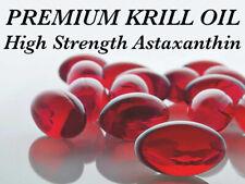 60x Premium Krill Oil 500mg Softgels. HIGH STRENGTH Astaxanthin Omega-3 EPA DHA