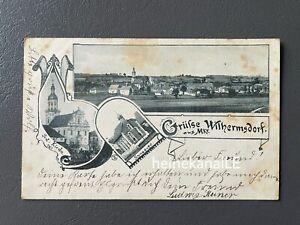 AK Foto Gruß aus Wilhermsdorf Synagoge Fürth Bad Windsheim Neustadt Aisch 1901