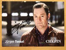 Jürgen Tonkel AK ZDF Die Chefin Autogrammkarte original handsigniert