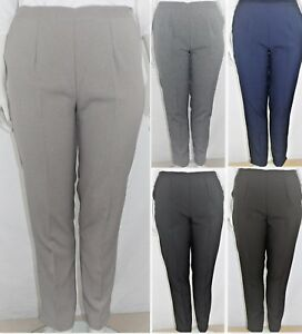 ON OFFER! Back Elasticated Trousers with Side Pockets, Plus Size 12-24