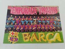 POSTAL FC BARCELONA PLANTILLA TEAM 1997 1998 97-98 SEASON FOOTBALL POSTCARD