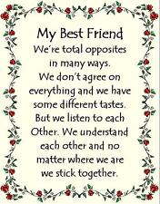 Hand Made Plaque Special Gift Sign Novelty Present My Best Friend personalise