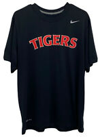 Nike Dri-Fit Mens Large Black MLB Detroit Tigers Short Sleeve Graphic Tee Shirt