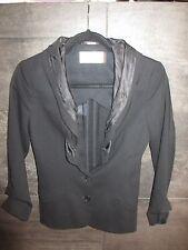 Hussein Chalayan black wool dress jacket size 38