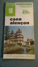 Carte Touristique Map Caen & Alencon France No. 18