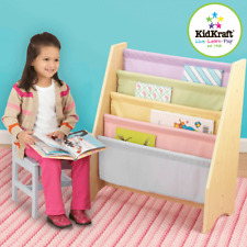 NEW KidKraft Sling Bookshelf Pastel Childrens Book Shelf Reading Books 14225