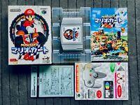 Mario Kart 64 Nintendo 64 N64 Japan Box Manual CIB