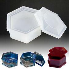 Molde de Silicona cono de diamante haciendo la joyería Colgante Resina fundición molde Craft ZY