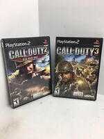 Call of Duty 2 AND 3 Comple Finest Hour Big Red One PS2 Play Station