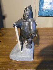 "Canadian Inuit Eskimo Sculpture Numbered & Stamped Canada Eskimo ""Man"" Paperwork"