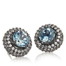 RARITIES CAROL BRODIE STERLING SKY BLUE TOPAZ  JACKETS STUD EARRINGS HSN $119.90