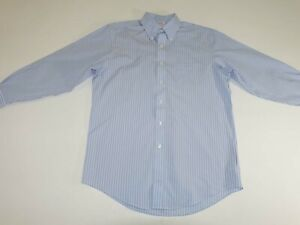 Brooks Brothers Men's Madison Non Iron Dress Shirt 15.5 - 32 Long Sleeves Blue