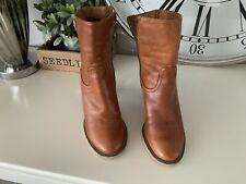 Osvaldo 1956 Ladies Tan Leather Boots Uk5/38