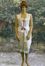 Ladies Victorian / Edwardian bloomers and camisole costume fancy dress 100%