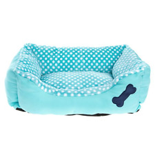 Grreat Choice Dog Cuddler Fluffy Teal Pockadot Bed