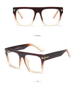 Women Men Oversized Clear Lens Eyeglasses Frames Unisex Eyewear