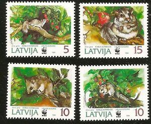 1994 ENDANGERED SPECIES WORLD WILDLIFE FUND MINT STAMPS LATVIA DORMOUSE SQUIRREL