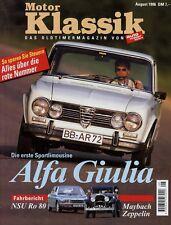 Motor Klassik 8/96 1996 NSU Ro 80 Alfa Romeo Giulia Jaguar E DB 5 Shooting Brake