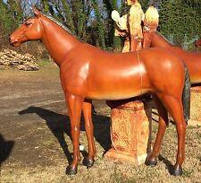 Life-Size Quarter-Horse Chestnut Brown Poly-Resin Fiberglass Sculpture Statue