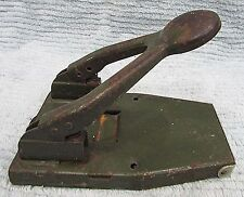 Old ACCO EZYPUNCH 110 NY USA army green steel 2 hole receipt paper punch FREE SH
