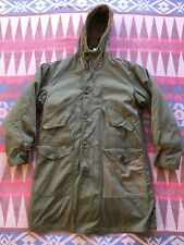 Vtg WWII US Military M-47 Parka Overcoat Jacket Pile Liner USA Men's Medium