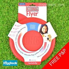 KONG FLYER FRISBEE - SMALL, LARGE, EXTREME, PUPPY - RUBBER DOG TOY - FLEXIBLE
