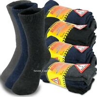 3-12 Pairs Mens Heavy Duty Winter Warm Thermal Wool Cotton Boots Work Socks 9-13