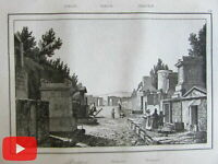 Southern Italy Sicily Italia 1840 lot of 20 engraved old prints views Naples Mes
