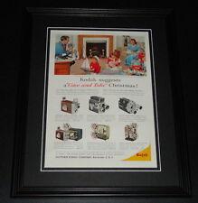 1959 Eastman Kodak Christmas 11x14 Framed ORIGINAL Vintage Advertisement