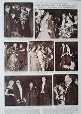 "1950 PRINT THEIR MAJESTIES MEET THE STARS OF ""THE MUDLARK"" - GARDEN EQUIPMENT"