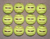 """* Dozen 12"""" Slowpitch Softballs Trump Stote Evil Ball ASA 375 Comp .44 Core"""
