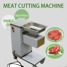 Moveable Commercial Meat Slicer Meat Cutting Machine Cutter 500kg/HourRestaurant